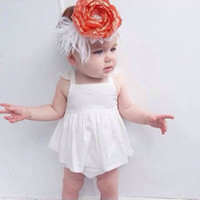 girls lace tops collar NZ - New Baby Girl Dress Summer Baby Lace 2ps Suit Clothing Baby Girl Dress Top with Shorts Lovely Kids Striped Suit Clothing Vestido Dress