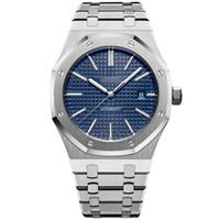 automatische gold-luxusuhr großhandel-Luxusuhren Top Männer Luxus 2813 Automatische Maschinen Uhren 41mm Edelstahl Mann Luminous Business Wasserdichte 30 Mt Armbanduhr