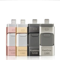 canetas usb drive venda por atacado-USB flash drive para iphoneU disco 3 em 1 pen drive usb flash drive u disco memory stick para apple iphone 5 5s 6 6 s plus ipad otg pendrive u03