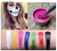 Wholesale cosplay tattoo - IMAGIC Face Body Paint Halloween Makeup Body Art Oil Painting for Party Cosplay Paint Tools Clown Pigments Temporary Tattoos Primer