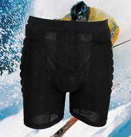 Wholesale Hip Padding Pants - Wholesale-1 Piece Black Adult Men Women Protective Hip Butt Pad Pants Ski Skate Snowboard Outdoor Sports pants