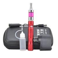 x6 buharlaştırıcı başlatma seti toptan satış-X6 e sigara fermuar durumda başlangıç kitleri vape kalem voltaj değişken 1300 mah X6 pil buharlaştırıcı vapes e sıvı sigara için