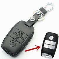 Wholesale Kia Sorento Cover - Genuine Leather Smart Key Case Cover For Kia KX3 KX5 K3S RIO Ceed Cerato Optima K5 Sportage Sorento Car Styling L72