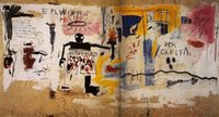 """abstrakte malereien china großhandel-Jean-Michel Basquiat """"Pro Kopf"""" Hochwertige handgemalte HD Print Graffiti Ölgemälde Wohnkultur Wandkunst auf Leinwand Multi Größen g64"""