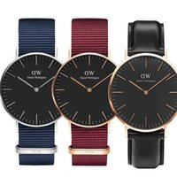 Wholesale 2018 New Daniel Watches MM MM Nylon Leather Strap Business Casual Brand Men Women Couple Watch