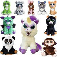 Wholesale Plush Pet Toy - 2018 Dropshiping face Change Feisty Pets Animals Plush toys cartoon monkey unicorn Stuffed Animals for baby