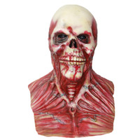 Wholesale Scary Devil Mask - X-MERRY Toy Scary Devil Zombie Mask Halloween Cosplay Party Horror Monster Skull Latex Fancy Skeleton Prop