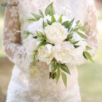 ingrosso mazzi di peonia per matrimoni-New Custom Made Wedding Bouquet Peonia Bouquet sposa artificiale Holding fiori per le damigelle Bouquet nuziale mariage Matrimoni all'aperto