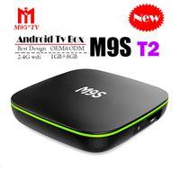 4k ultra hd tv großhandel-Bester M9S T2 Allwinner H3 1G 8G Android 7.1 Fernsehkasten Viererkabel-Kern Ultra HD H.265 4K Strom-Medien-Spieler besser Amlogic S905W TX3 X96 Mini S912