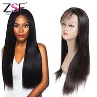 perucas da extensão do cabelo das mulheres negras venda por atacado-ZSF 360 Rendas Frontal Perucas Extensões de Cabelo Humano Em Linha Reta Brasileira Em Linha Reta Perucas de Cabelo Humano Para As Mulheres Negras Por Atacado
