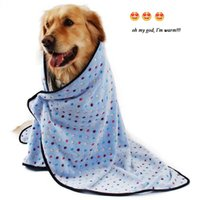 Wholesale puppy bedding - Dog Puppy Blanket for Pet Cushion Small Dog Cat Bed Soft Warm Sleep Mat Kitten Soft Blanket Doggy Warm Bed Mat Point Print