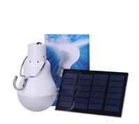 mini projecteur achat en gros de-Hot 15W 130LM Portable Led Ampoule Lumière Chargée Énergie Solaire Lampe Éclairage Extérieur Livraison Gratuite