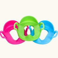 töpfchensitze großhandel-Kinder Auxiliary Training Urinal Baby Care Potties Sitzbezüge Portable Bad Sockel Closestool Pad Ring Vergrößern Und Verdickung 7hc ff