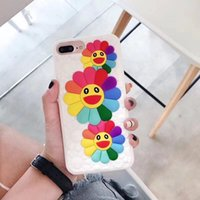 Wholesale huawei 3d silicone case resale online - Fashion D Sun Flower Phone Case For Iphone X XR XS MAX Soft Silicone Back Cover For Iphone Plus