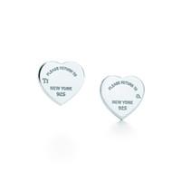 kalpler kutusu toptan satış-Bayan Lüks Marka Takı 100% 925 Ayar Gümüş Aşk kalp Küpe Logosu Orijinal kutusu Kadın Kızlar Düğün Damızlık Küpe