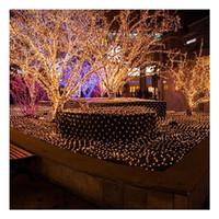 ingrosso le luci bianche della maglia netta-LumiParty 3m * 2m 204 Fairy Led Net Light Mesh Lighting per Natale Xmas Party Decorazioni di nozze Bianco US Black