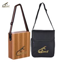 Wholesale Maple Wood Types - GECKO C-68Z Portable Traveling Cajon Box Drum Hand Drum Wood Percussion Instrument with Strap Carrying Bag