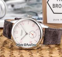 montres fraîches achat en gros de-Nouveau NOMOS Glashutte Club 737 Boîtier En Acier Cadran Blanc Automatique Hommes Montre Gris Allemand Tourné Leatehr Bracelet Montres Haute Qualité Cool NM13a1