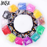 gummiband armbänder clips großhandel-JINSE DIY Silikonbänder gemischt Farben Gummibänder Refills verwendet, um Armband 600 Bands + 24 S-Clips zu machen