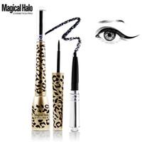 Wholesale black halo makeup resale online - Magical Halo Leopard Multifunction Eyeliner Liquid Eyeliner Pencil Long lasting Waterproof Liquid Eye Liner Makeup Cosmetic