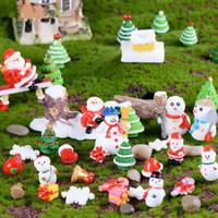 Wholesale car actions for sale - 19 mm Christmas Action Figures Toys Cartoon Santa Claus Snowman Model Desktop Car Home Xmas Decoration CCA10698