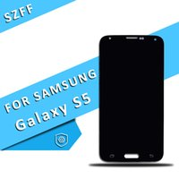 Wholesale samsung s5 display for sale - For Samsung Galaxy S5 i9600 G900F G900H G900M G900 Black White LCD Screen Display Touch Digitizer Replacement DHL