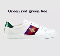 Wholesale gingham style - Genuine Leather casual shoes unisex Fshion embroidery Bees sneakers For more style please contact us model Bees
