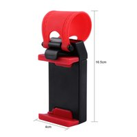 Wholesale car steering wheel mobile mount resale online - Universal Car Steering Wheel Clip Mount Holder Cradle Stand For Mobile Phone GPS