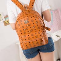 mochila laranja azul venda por atacado-Clássico mochilas moda feminina senhora 5 cores de vermelho, preto, azul, caqui, laranja mochila saco encantos
