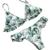 maternidade feminina venda por atacado-Tankinis Set New Maternidade Swimwear Mulheres Sexy Bikini Set Impresso Push-Up Acolchoado Swimwear Swimsuit Banho De Praia D40