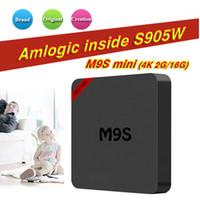 бесплатная доставка tv box оптовых-М9 мини 7.1 для Android коробка TV встроенный S905W 1 ГБ 8 ГБ /16 ГБ 2 ГБ лучше T95M X96 противоударный про 4К DHL свободный корабль