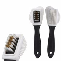 Wholesale Boot Shoe Brush - High Quality S Shape Boot Shoes Cleaner 3 Side Shoe Cleaning Brush Suede Nubuck Black