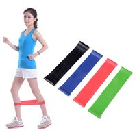 Wholesale strength band latex - 4Pcs Resistance Bands Yoga Fitness Training Natural Latex Rubber Fitness Gym Strength Practical elastico para exercicios 25* 5cm