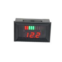 voltmetre test cihazı toptan satış-12-60 V 12 V / 24 V Kurşun Asit Pil Kapasitesi LED Göstergesi Dijital Voltmetre Cihazı Gerilim Akım Metre Elektronik Modülü