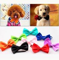 ingrosso legami dell'arco del cane di animale domestico-Cute Dog Pet Bow tie Dogel Bow nodo Handsome Dog Neck Tie Cat Ties Collari Pet Grooming Supplies Spedizione gratuita