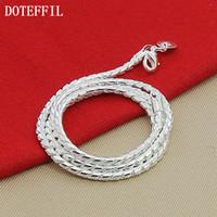 925 ожерелье 3мм змейной цепи оптовых-Christmas Gift 2017 Silver 925 Fashion 3mm Snake Chains Necklace Wholesale Jewelry Necklace