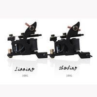 Wholesale Cast Iron Tattoo Machine Frames - 2 pcs Tattoo Machine Guns Liner and Shader Steel Frame Copper Coils