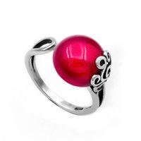 joyas de plata esterlina rosa anillo al por mayor-Accesorios de joyería al por mayor de descuento de América y Europa estilo de plata de ley 925 anillos de dedo de las mujeres de piedra de color rosa 2018 nuevo anillo de dama de estilo