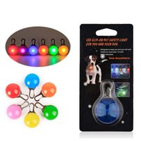 Wholesale dog walking light - Pet Led Light Dog Cat Waterproof Dog Illuminated Collar Safety Night Walking Lights ID Tags Pet Dog Pendants Flashing Led Collar