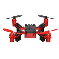construcción quadcopter al por mayor-2018 Nueva KY201 2.4G DIY Bloques de construcción RC Drone 3D Headless Juguete Educativo Mini Drone Quadcopter RC Helicóptero Para Niños regalo