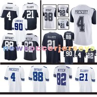 Wholesale football cowboys - Dallas Cowboys 55 Leighton Vander Esch jersey 4 Dak Prescott 21 Ezekiel Elliott 90 DeMarcus Lawrence Emmitt Smith 82 Jason Witte Dez Bryant