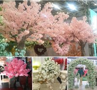 ingrosso paesaggistica senza erba-Fiori finti di plastica Piante artificiali Decorazione domestica Seta Cherry Blossoms Artificial Bouquet Wedding Festival Decorative Flower