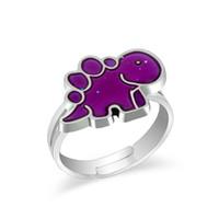 anillo de humor animal al por mayor-Joyería de las mujeres animales anillo de humor de dinosaurio Temperatura Cambio de color anillo Anillos de apertura ajustables para mujeres