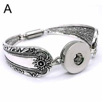 Wholesale Magnetic Gifts For Men - high quality Carved flowers Interchangeable 168A Magnetic 18mm snap button Bracelet&Bangle Charm Bracelet For Women men Gift