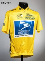 tur france jersey top toptan satış-ABD Posta Ekibi Hızlı Kuru Şort Kollu Bisiklet Jersey Roupa Ropa Yaz Yarış Bisiklet Giyim Tour de France Bisiklet Tops Giymek