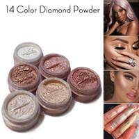 лицевой маркерный порошок оптовых-Diamond Glow Powder 17 цвет Diamond Бронзовый корпус Highlighter рассыпчатая пудра Бродвей Yasss! Осветление лица
