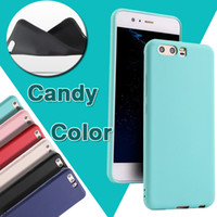 Wholesale fit shot - Candy Color Ultra Thin Slim Matte Frosted Shockproof Protective Soft TPU Silicone Cover Case Skin For Huawei P20 Pro P10 P9 Plus Lite Shot X