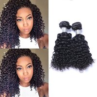 Wholesale indian deep wavy hair black resale online - Indian Virgin Human Jerry Curly Weave inch grams piece Body Wavy Hair Natural Black Hair Extensions