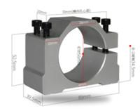 cnc vida makinesi toptan satış-Cnc 55mm Mili Motor Braketi 400 500 W Alüminyum Kalıp Çapı Montaj Kelepçe Ile Gravür Mil Freze Makinesi Için 4 Vidalar