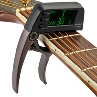 Wholesale guitars tuners - 2018 New MagiDeal TCapo20 Capo Tuner for Professional Acoustic Electric Guitar Bass Violin 2 colors- Silver coffee